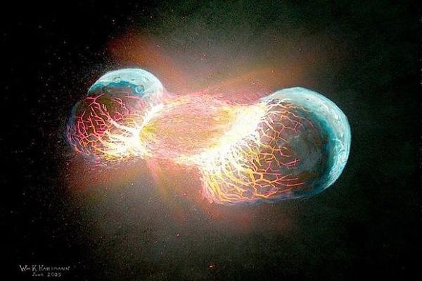 Đã từng có tới 2 Trái đất trong hệ Mặt trời