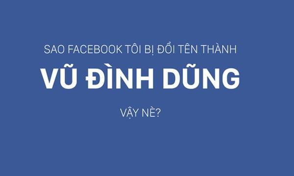Lý do Facebooker Việt bị đổi tên thành Vũ Đình Dũng