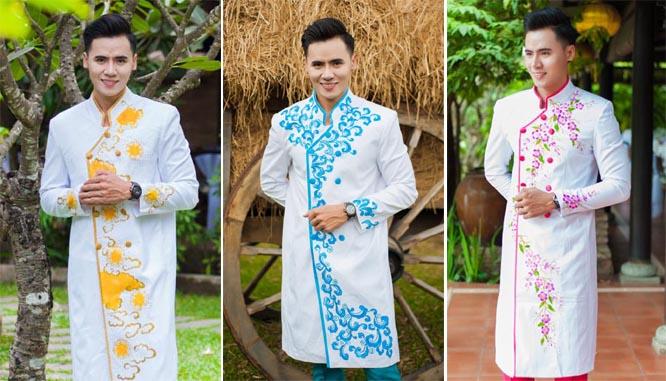 Hồ Văn Phúc thanh thoát và ấn tượng với áo dài nam Tommy Nguyễn