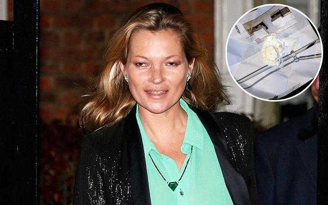 Phát hiện bột trắng trong xe cũ của siêu mẫu Kate Moss