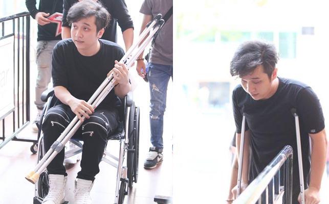 Bất chấp thương tích, Yanbi vẫn đi thi bằng xe lăn