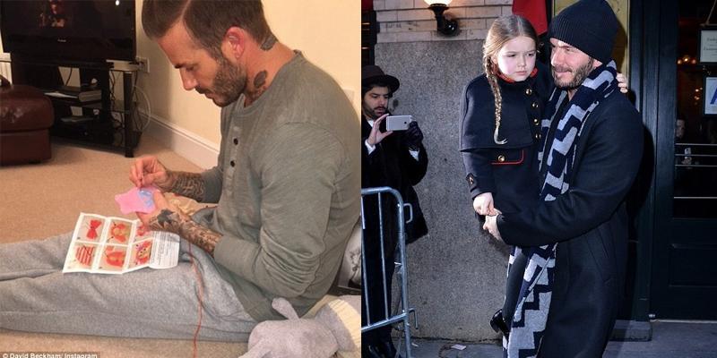 David Beckham cặm cụi khâu váy búp bê cho công chúa nhỏ Harper Seven