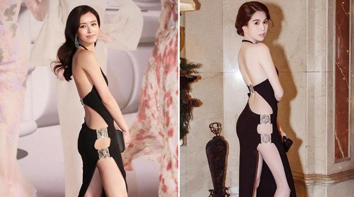 """Khi mỹ nhân Hồng Kông """"mặc lại"""" đầm của Ngọc Trinh"""
