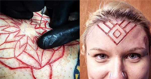 Trào lưu xăm hình bằng cách xẻ thịt, lột da đầy kinh dị
