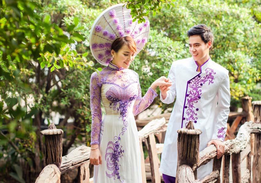 Thanh thoát mà kiêu sang với áo dài cưới Tommy Nguyễn