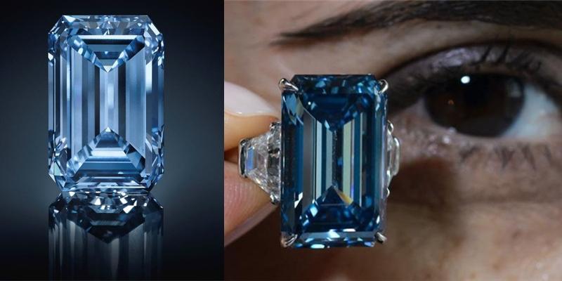 Chiêm ngưỡng viên kim cương xanh đắt nhất hành tinh giá 1.300 tỉ