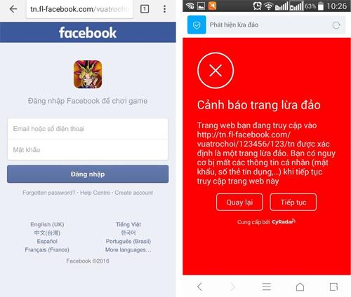Lừa người dùng Facebook chơi game để ăn cắp mật khẩu