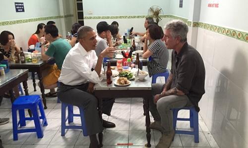 Người Trung Quốc không tin bữa tối bún chả của Obama là thật