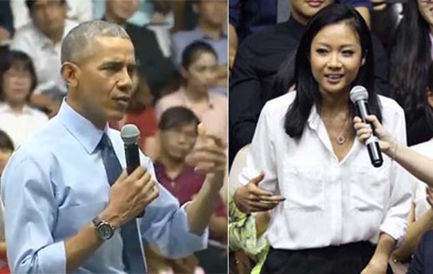 Suboi đọc rap cho Obama nghe tại Gem Center
