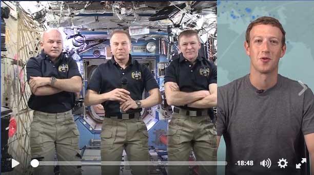 """Facebook lần đầu tiên trở thành """"cầu nối"""" giữa trái đất và trạm vũ trụ ISS"""