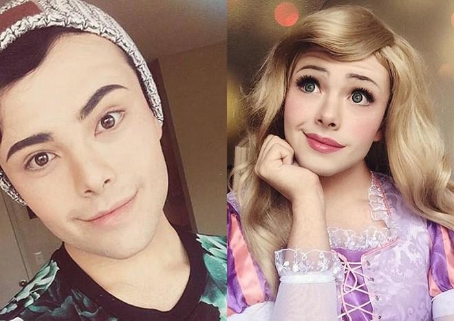 Chàng trai hóa thân thành công chúa Disney