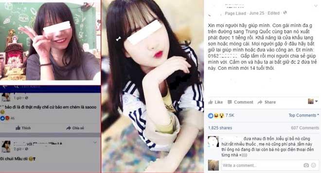 Hai nữ sinh bịa chuyện bỏ nhà sang Trung Quốc gây bất bình