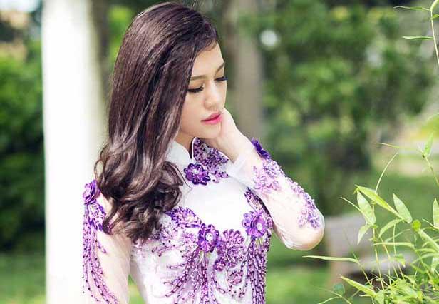 Lại Thanh Trân kiêu sang với Áo dài cưới Tommy Nguyễn