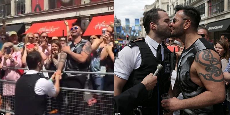 Vượt lên sự kỳ thị, chàng cảnh sát đã có màn cầu hôn xúc động với bạn trai