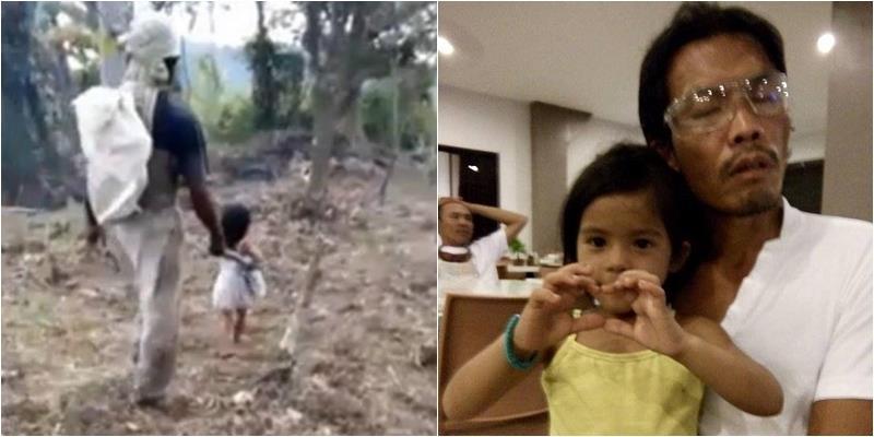 Cảm thương cô bé 5 tuổi đưa đón người cha mù đi làm mỗi ngày