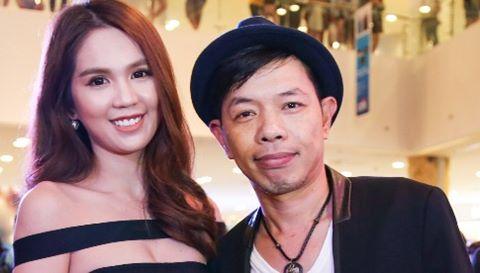Ngọc Trinh diện đầm cut-out dự ra mắt phim của Thái Hòa