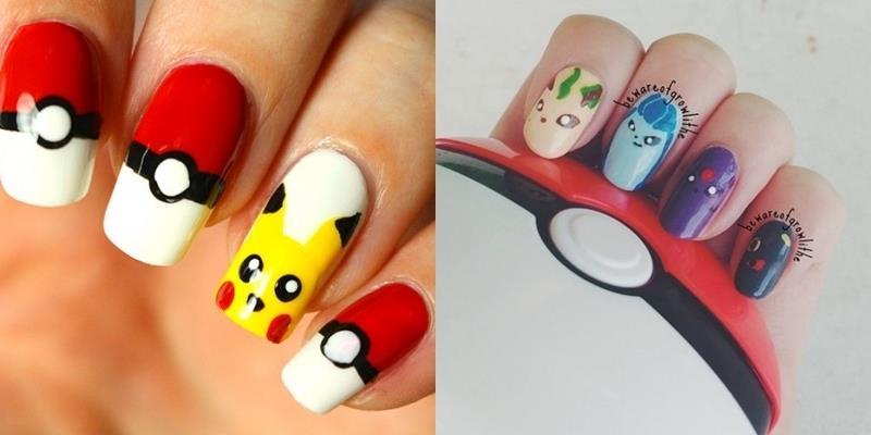 Trào lưu Pokémon GO đã lan sang... móng tay những cô nàng sành điệu