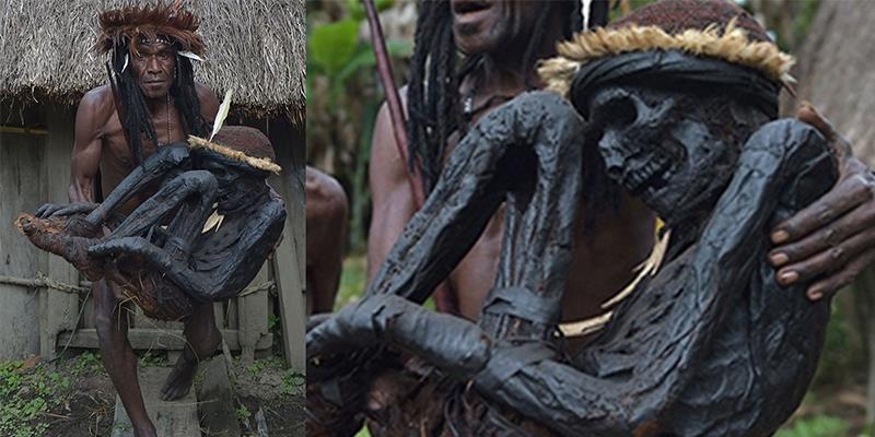 Choáng với bộ tộc ướp xác tổ tiên để thờ trong nhà hàng trăm năm