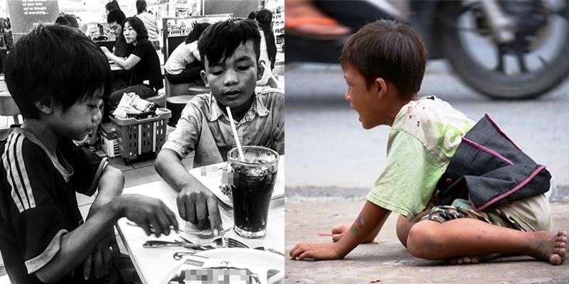 Hai cậu bé ăn xin mồ côi và câu chuyện cảm động trong quán gà rán