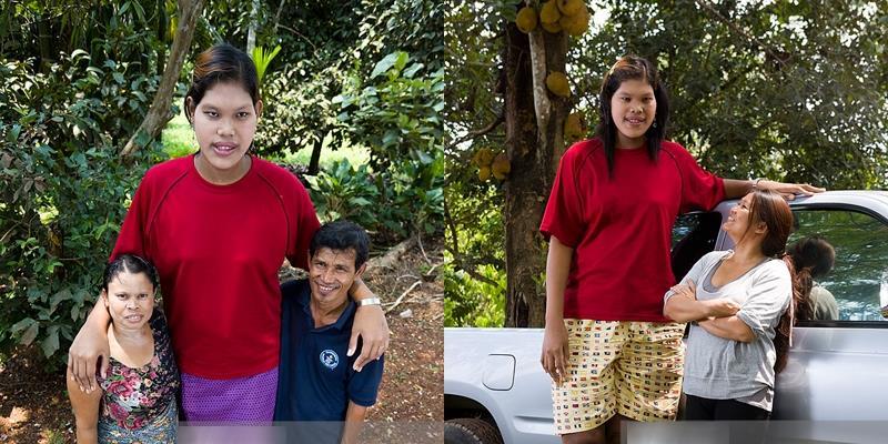 Cô gái Thái Lan cao nhất thế giới qua đời ở tuổi 24