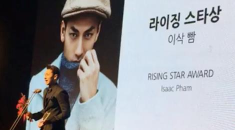 Isaac đoạt giải Ngôi sao triển vọng tại LHP Busan