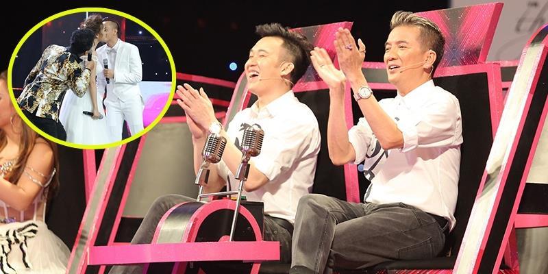 Mr Đàm phấn khích khi thấy học trò hôn nhau trên sân khấu