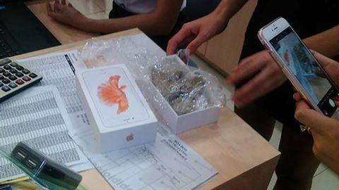 13 chiếc iPhone 6S bị tráo sỏi đá ở Yên Bái