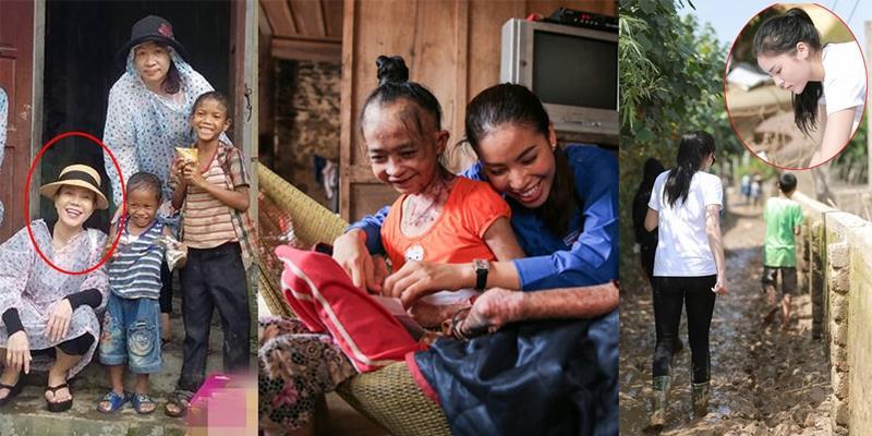 Khi sao Việt đội mưa, lấm lem bùn đất, một lòng vì bà con miền Trung