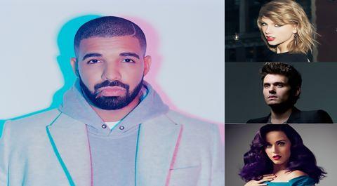 Taylor Swift đụng Katy Perry, John Mayer ở sinh nhật Drake