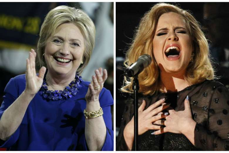 Gác chuyện bầu cử, Hillary Clinton đến xem Adele biểu diễn