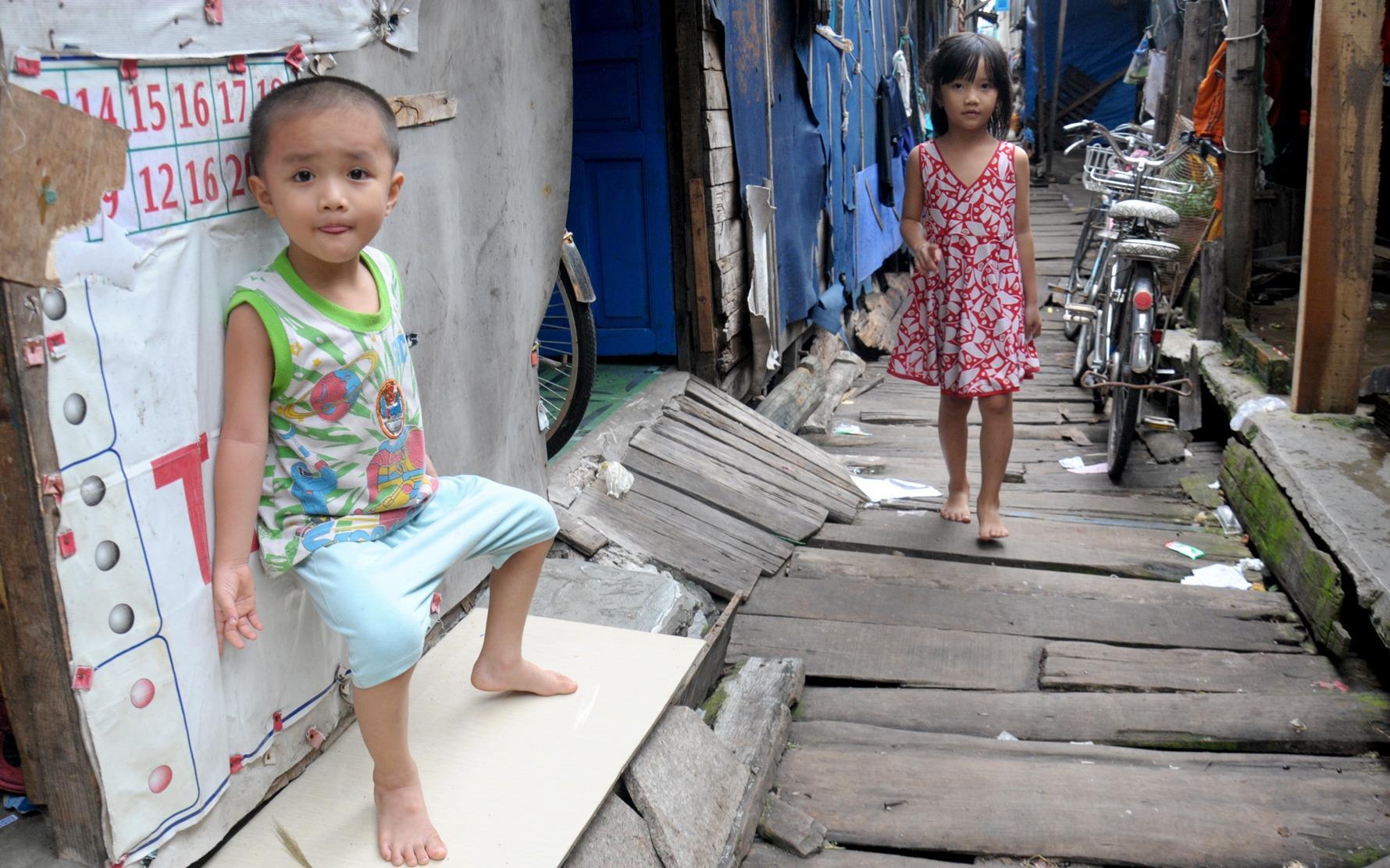 Khu ổ chuột trên biển Quy Nhơn