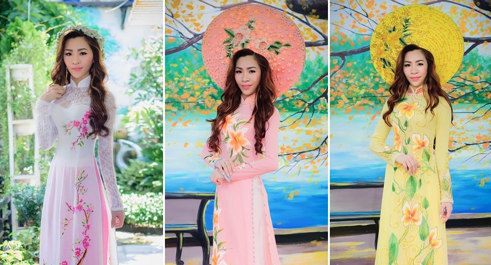 Nữ doanh nhân Bùi Thị Xuân rạng ngời với Áo dài Tommy Nguyễn