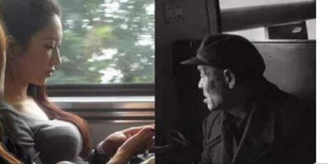 Cô gái trẻ nhường ghế cho cụ ông, nhưng khi cô bước đi tất cả hành khách đều xúc động