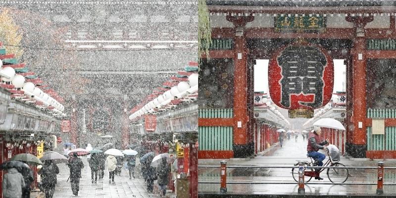 Tuyết đổ trắng xóa vào mùa thu ở Nhật Bản sau hơn nửa thế kỷ