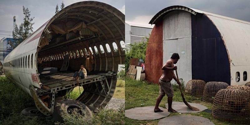 """Những """"căn nhà"""" xác máy bay kì lạ của người nghèo ở Bangkok"""
