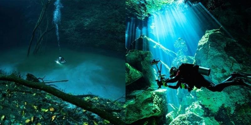 """Dòng sông xanh thẳm có """"hộ khẩu"""" dưới đáy đại dương"""