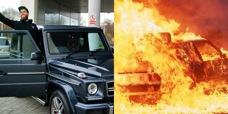 """Choáng với thú tiêu khiển đốt siêu xe của """"hội con nhà giàu London"""""""