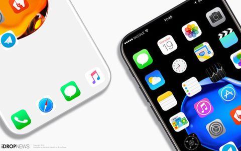 Xuất hiện thiết kế iPhone 8 không viền màn hình
