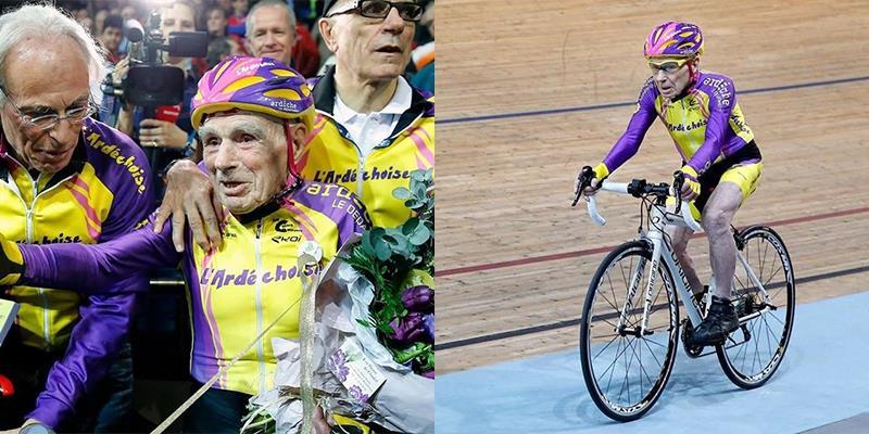 Cụ ông 105 tuổi lập kỉ lục về đạp xe gây sốt toàn thế giới