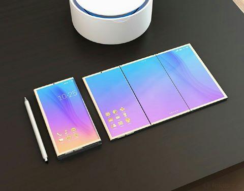 Smartphone Samsung lạ lẫm với màn hình gập