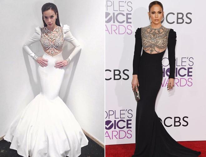 Hồ Ngọc Hà lên tiếng về chiếc váy Jennifer Lopez đã mặc