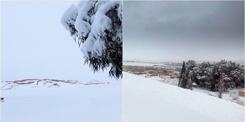 Không thể tin nổi: Tuyết rơi trên sa mạc lớn nhất thế giới sau 38 năm