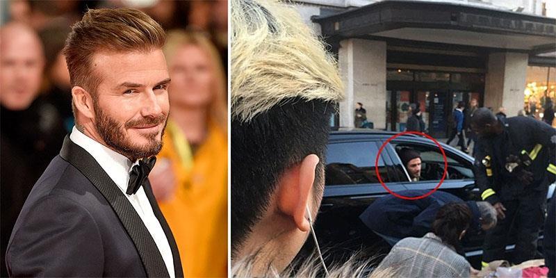 Ngưỡng mộ trước nghĩa cử cao đẹp của David Beckham trên phố