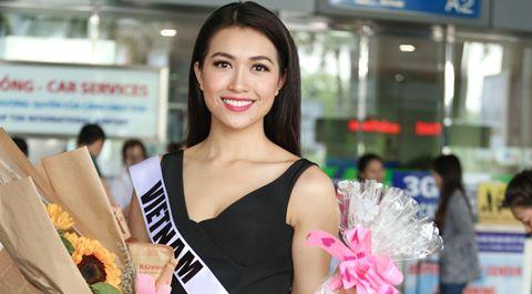 Lệ Hằng tươi tắn về nước sau Hoa hậu Hoàn vũ