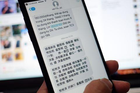Viettel: Tin nhắn tượng hình là lỗi cấu hình