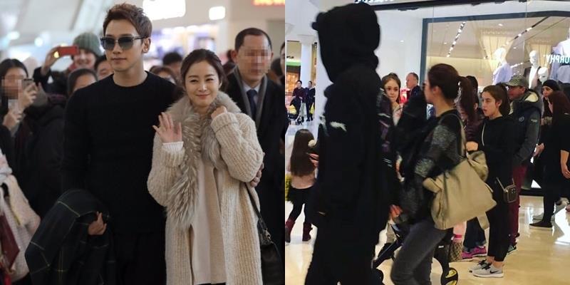 Kim Tae Hee và Bi Rain tranh thủ đón Valentine ở Mỹ
