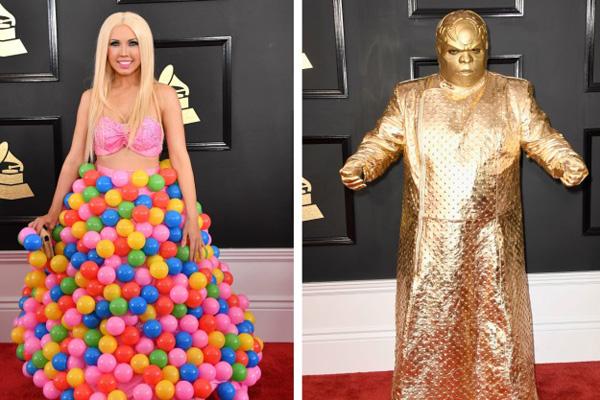 Những trang phục gây sốc nhất thảm đỏ Grammy 2017