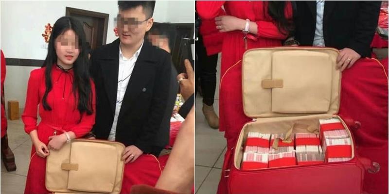 Choáng váng với chiếc vali chứa 11 tỉ đồng tiền sính lễ tặng cô dâu