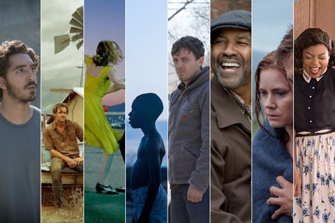 """9 tác phẩm tranh giải """"Phim truyện xuất sắc"""" tại Oscar 2017"""