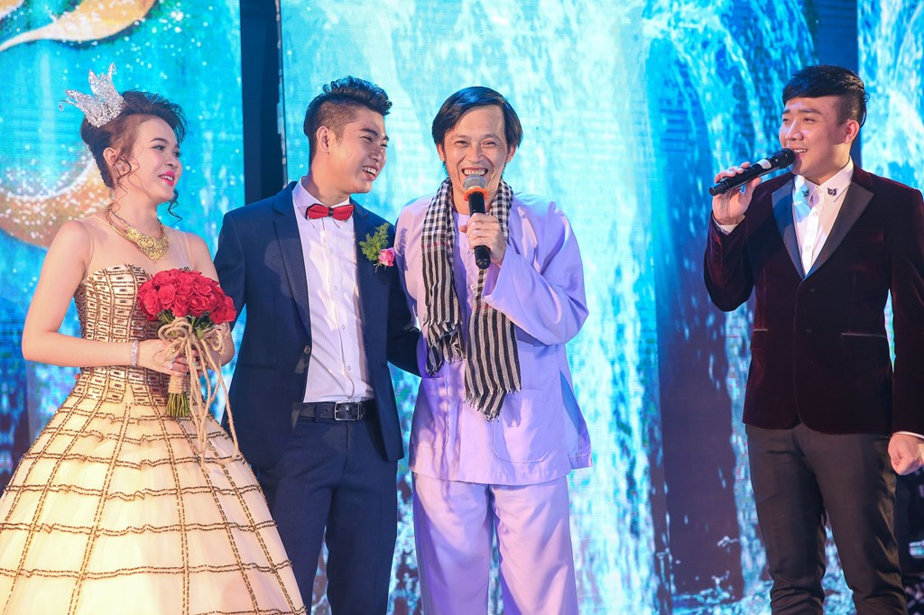 Hoài Linh, Trấn Thành diễn hài ở lễ cưới thiếu gia Cần Thơ